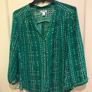 Old Navy polka dot blouse